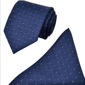 Men's Navy Blue distinguish Tie Set